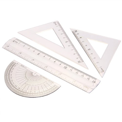 SOSW-Students Maths Geometry Stationery Ruler Set Squares Protractor