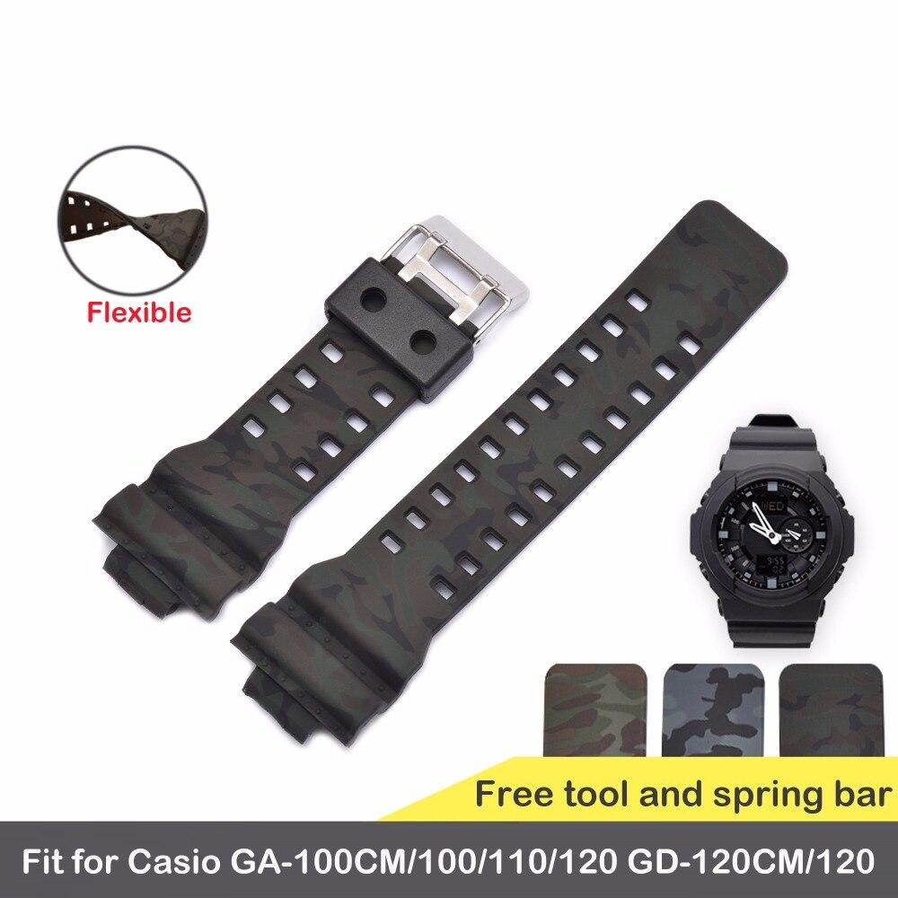 Bracelet 16mm Pour Casio G-choc Convexe Bouche Série Spécial Tête Pour GA-100CM/110/120 GD-120CM G-8900 GLS-8900 GR-8900 GW-8900