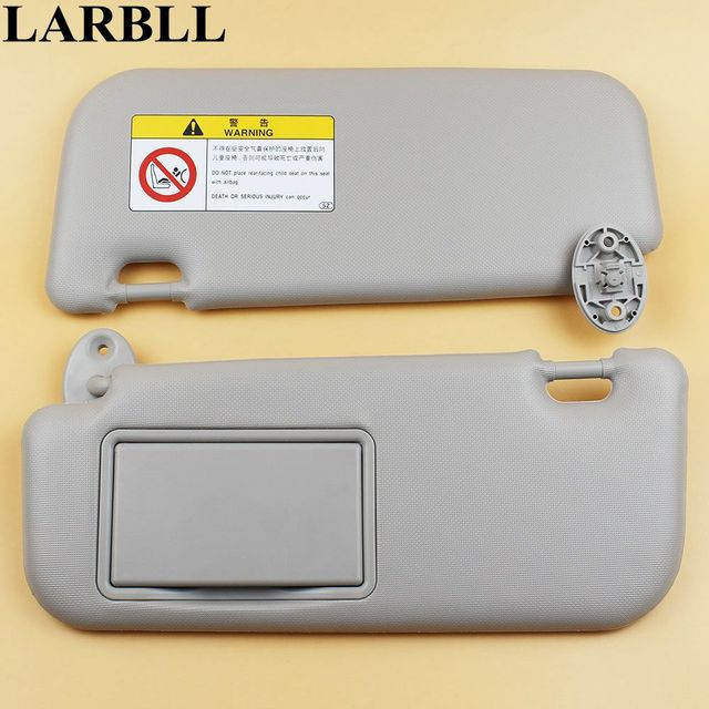 LARBLL Car accessories Gray sun visor with make-up mirror and Screws for  Toyota Corolla 74895969e73