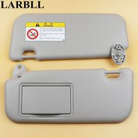 LARBLL Car accessories Gray sun visor with make up mirror and Screws for Toyota Corolla 2014 2017 74320 02B21 74310 02K91