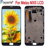 100% Tested For Meizu MX5 LCD Display +Digitizer Touch Screen Glass Replacement Parts Meizu MX5 Screen With Frame Free Shipping