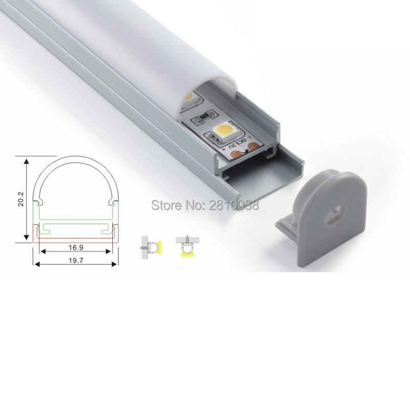 100 X 1M Sets/Lot round shape aluminum profile for led light and semicircular led alu extrusion for ceiling or pendant lamp