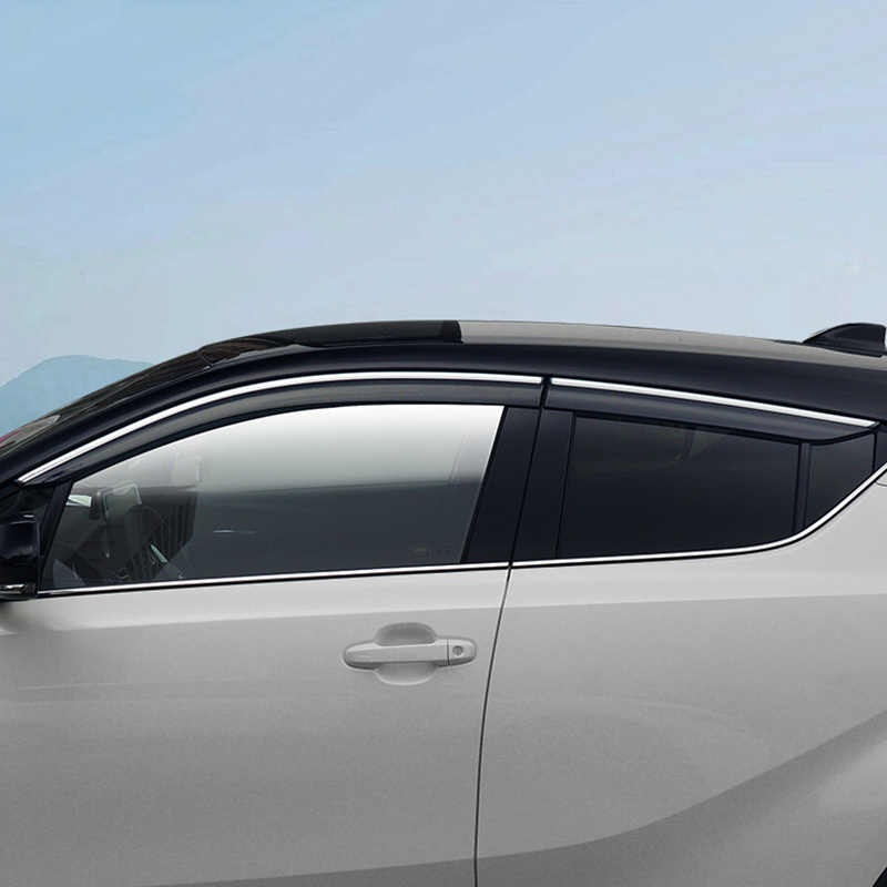Window Shield Cover For Toyota CHR 2018  Window Air Vent Visor Sun Shade Awnings Shelters Guards For Toyota C-HR 2017 2018 2019