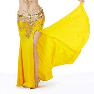 Image 2 - 2018 Vrouwen Buikdans Kostuum Professionele Optredens Split Rok Jurk Oosterse Dansen Clothing12 Kleur