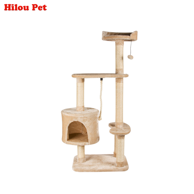 Multi layer Cat Climbing Tree Toys Scratching Solid Wood for Cats ...