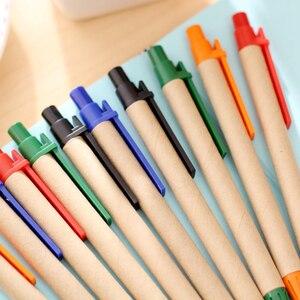 Image 3 - 130ชิ้น/ล็อตปากกากระดาษECOปากกาจัดส่งฟรีพลาสติกคลิปEcoลูกกระดาษปากกา