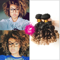 9A Pelo Virginal Indio Annabelle Spiral Curl Weave 3 Paquetes Ombre Pelo de la Armadura Del Pelo 1B/4/27 Ombre Espiral Del Enrollamiento Del Pelo humano