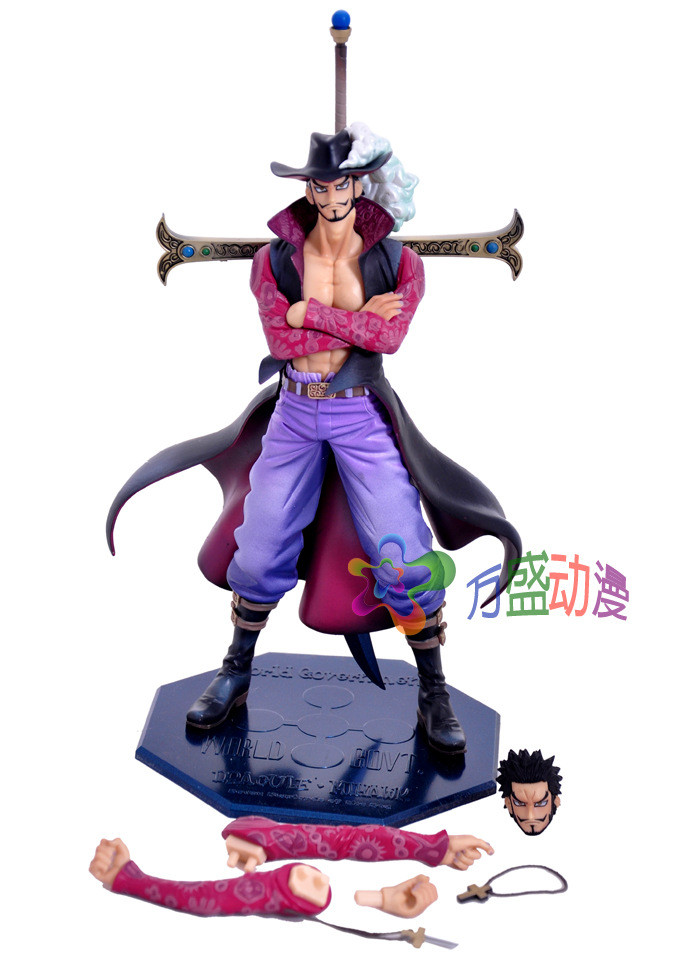NEW hot 26cm One piece big Dracule Mihawk action figure toys doll collection Christmas toy no box new hot 11cm one piece vinsmoke reiju sanji yonji niji action figure toys christmas gift toy doll with box
