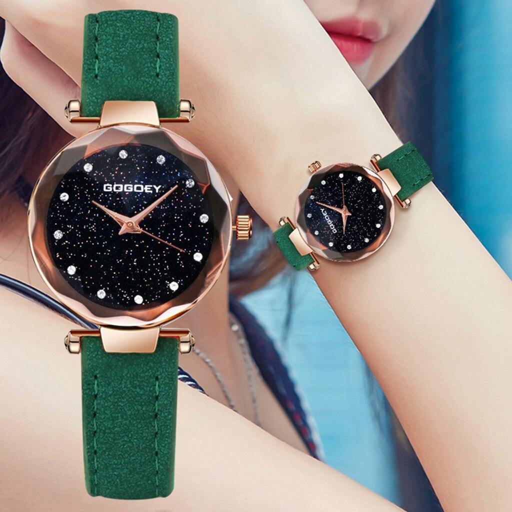 8af68044dad Gogoey Women s Watches 2018 Luxury Starry Sky Wrist Watch Top Brand Ladies  Watches For Women Rhinestone