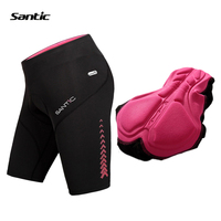 Santic Summer Cycling Shorts Women UV400 Proof Elastic Downhill MTB Road Mountain Bike Shorts 4D Padded