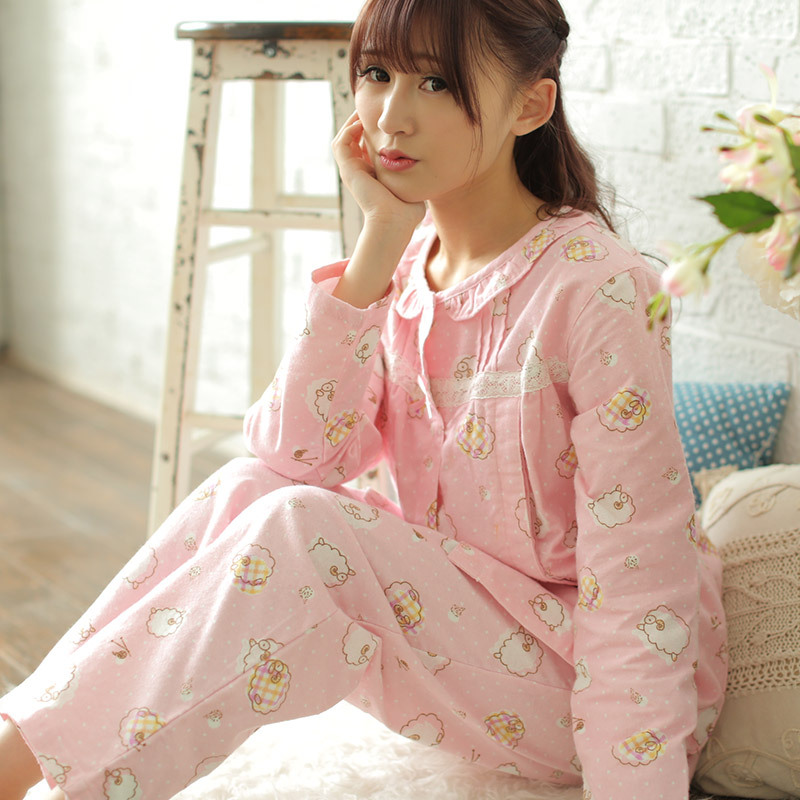 100 Cotton Breastfeeding Pajamas For Pregnant Women Pregnancy  Maternity Nursing Pajamas Sets Suit Long Sleeve Sleepwear Feeding