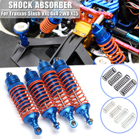 1Set Front & Rear Assembled Aluminum Shock Absorber Springs For Slash VXL 4x4 2WD XL5 Upgrade Parts RC Car Accessories