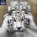 3D пододеяльник с изображением животных King/Queen размер тигр белый хлопок смесь горячая Распродажа 3D постельное белье постельные принадлежнос...