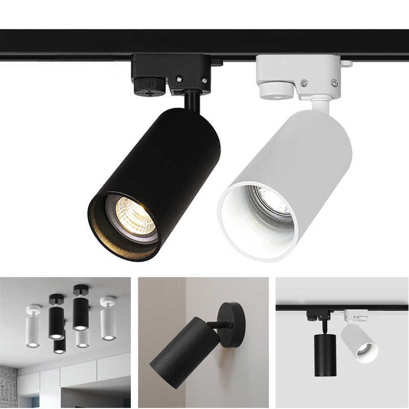 GU 10 bulbs Led Track light aluminum Ceiling Rail Track lighting Spot Rail Spotlights Replace Halogen Lamps for clothes Store