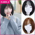 1PC Fashion Synthetic Bob Wigs With Air Bang Synthetic Cosplay Wig Short for Sweet Girl Women Non Lace Wig