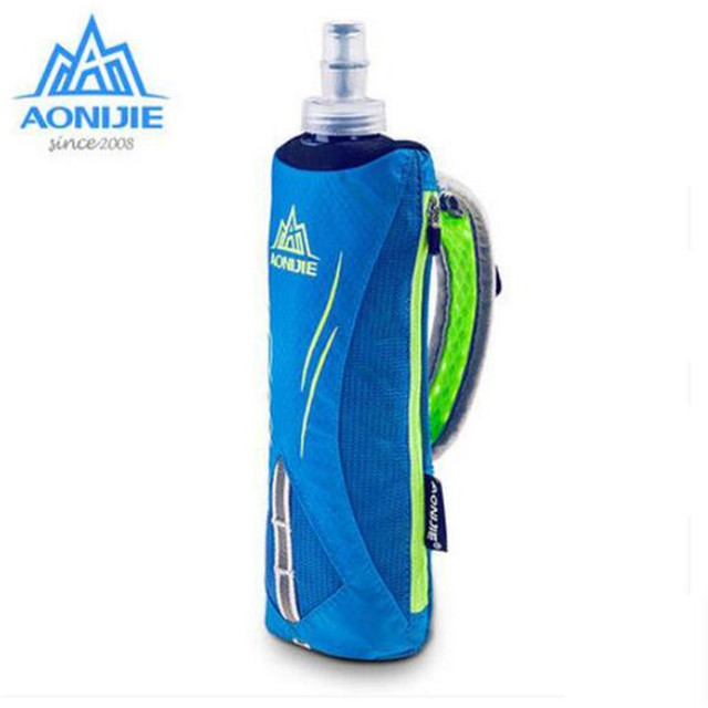 AONIJIE Men Women  Marathon Kettle Pack Outdoor Sports Bag Hiking Cycling Running Hand Hold Bag With Water Bottles
