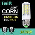 De alta Potencia 220 v 240 v LED del maíz de La Lámpara del Proyector del bulbo de SMD 5730 lampada led lamparas E27 9 W 12 W 15 W 18 W 20 W Cálido Frío blanco