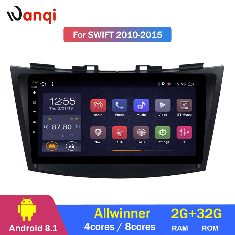 2G RAM 32G ROM Android 8.1 voiture multimédia pour Suzuki Swift Ertiga 2010-2015 GPS unité de tête d'écran tactile