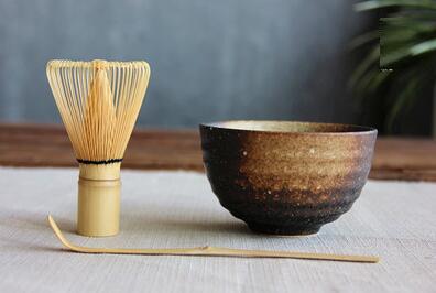 Elegant Traditional Matcha Natural Bamboo Matcha Whisk Scoop Ceremic Matcha bowl whisk holder Japanese Matcha tea Sets Giftset