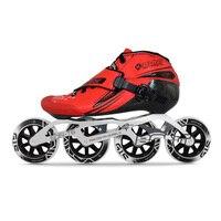 100% Original Bont Jet 2PT Package Speed Inline Skates Heatmoldable Carbon Fiber Boot 4*90/100/110mm Wheels Skating Patines