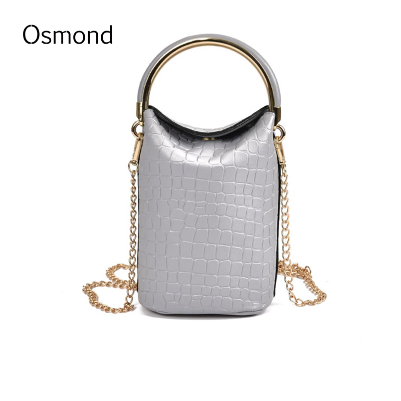 Osmond Female Small Bag 2017 Spring New PU Leather Women Messenger Bags Lady Long Chain Shoulder Bags Crossbody Bag Mini Handbag  2016 summer new fashion female bag embossed quality pu leather women bag handbag chain lock shoulder messenger small bag mini