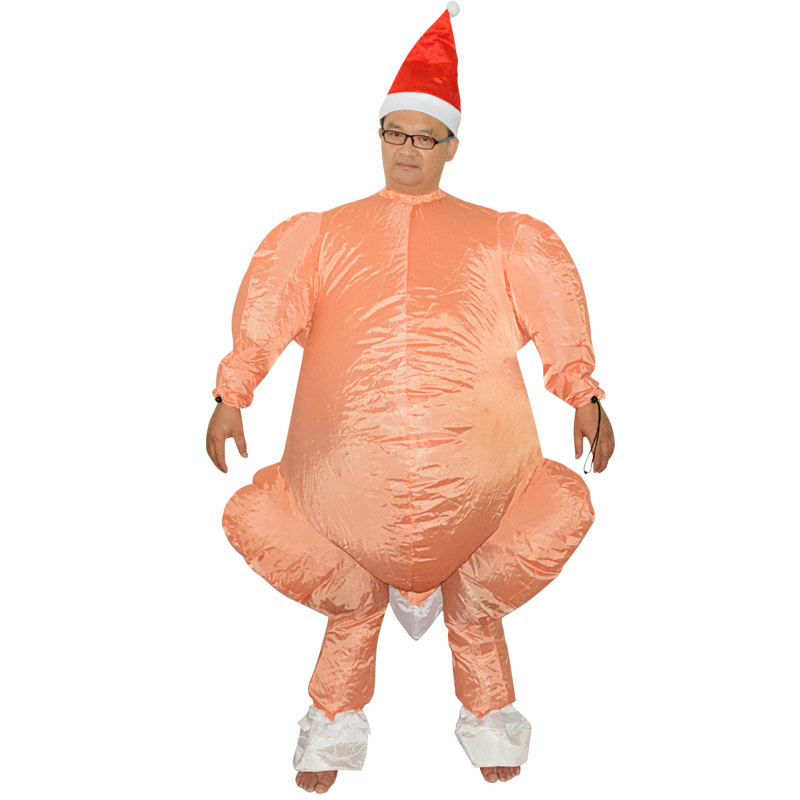 Roast Turkey Inflatable Costume Halloween Costumes For Women Man Adult  Anime Funny Cosplay Inflatable Costumes Fancy Dress