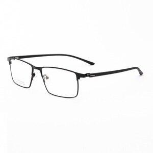 Image 1 - Larghezza 152 cerniera a Molla di affari occhiali uomo Grande volto di metallo casuale cerchio pieno Quadrati imitazione titanium occhiali da vista frames Occhiali