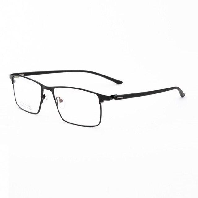 Larghezza 152 cerniera a Molla di affari occhiali uomo Grande volto di metallo casuale cerchio pieno Quadrati imitazione titanium occhiali da vista frames Occhiali