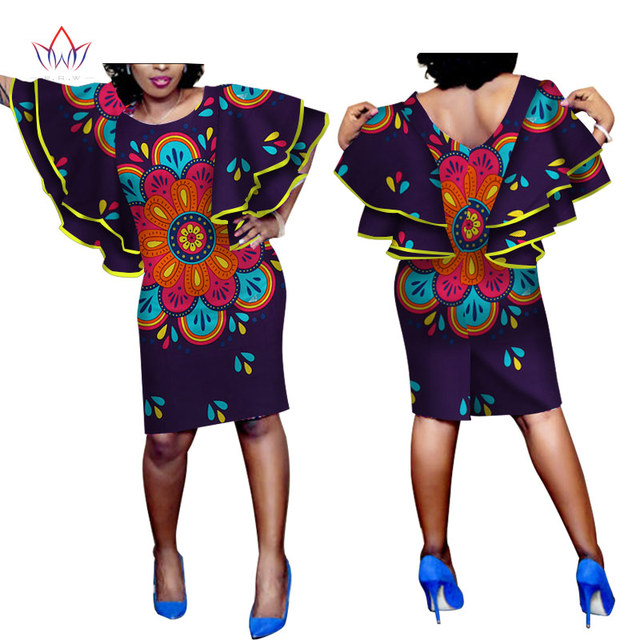 2017 Sexy Print African Dresses For Women Plus Size Elegant Long