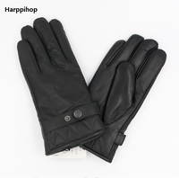 New Designer Luxury Mens Gloves High Quality Genuine Leather Sheepskin Mittens Warm Winter Gloves For Fashion