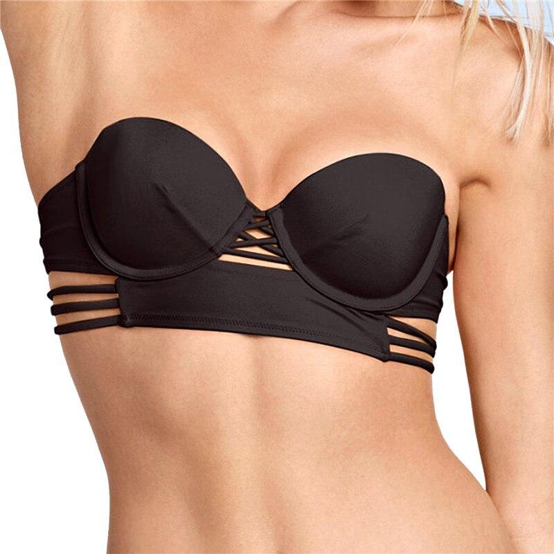 M&M Жінки Тверді Sexy Bandeaus Бікіні Топ - Спортивний одяг та аксесуари - фото 2