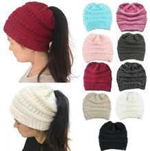 New fashoin winter warm knitted Solid Color Hip-Hop Skullies Beanie Hat