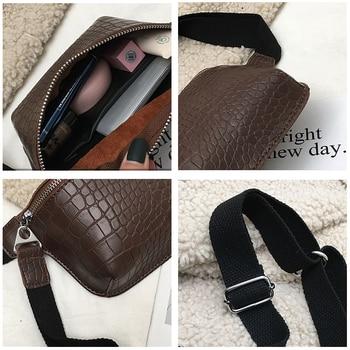 CROWDALE Women bag crocodile multicolor messenger chest bag clutch female Pu leather handbag cross body bag Fashion high quality 4