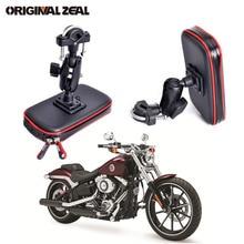 Upgrade 360 stopni GPS motocykl wodoodporna torba uchwyt na telefon rowerowy regulowana kierownica wsparcie Moto zamontować gniazda kart