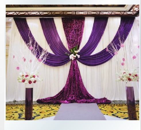 Ice silk cloth 3 6 m romantic wedding decoration stage backdrop ice silk cloth 3 6 m romantic wedding decoration stage backdrop customized size and color junglespirit Gallery