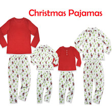 158194008c 2018 Family Matching Christmas Pajamas PJs Sets Kids Adult Xmas Sleepwear  Nightwear Clothing family casual Santa