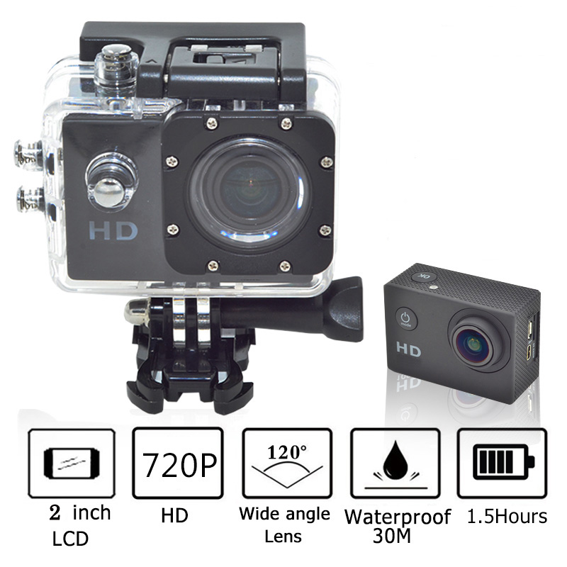 Sport Action Camera Inch LCD Screen P Motion Detection Mini Camcorder Recorder