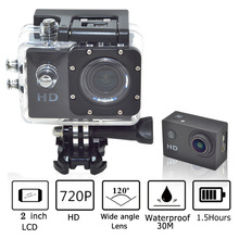 Sport Action Mini Camera 2 Inch LCD Screen HD 720P Motion Detection Camcorder Recorder Waterproof 30 Meters Go Pro Style