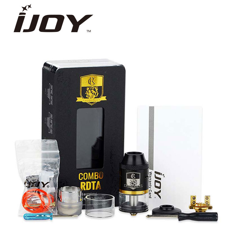 New Arrival IJOY COMBO RDTA Tank Electronic Cigarette 6 5ml Large Capacity COMBO RDTA Atomizer with
