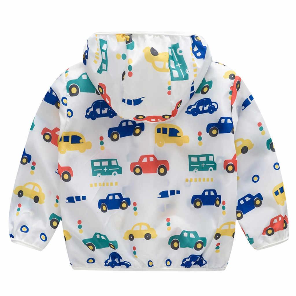 아기 까마귀 유아 어린이 여름 선 스크린 자켓 인쇄 후드 아우터 지퍼 코트 소년 소녀 스웻 셔츠 드롭 배송