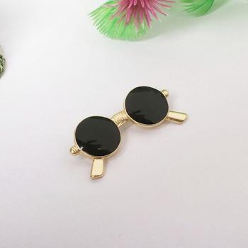 Модная брошка черные очки 1