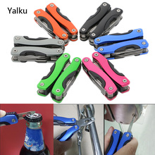 Yalku 9 In 1 Foldable Knife Multifunctional Plier Portable Outdoor Survival Stainless Steel Hand Tool Bottle Wrench Plier Files