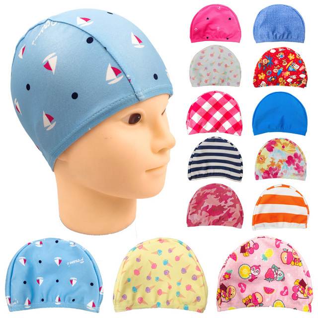 Children Swim Caps Unisex Kids Baby Boys Girls Protect Ears Swimming Cap Hat  Cartoon Floral Print Elasticity Bathing Swim Cap 6479ef514