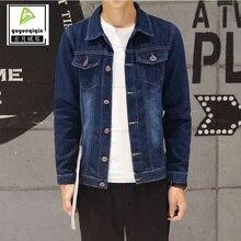 Jackets Men 2017 Denim Jacket Men's Casual Fashion Youth Long sleeve Jacket Single Breasted Button Pocket Decoration Tops