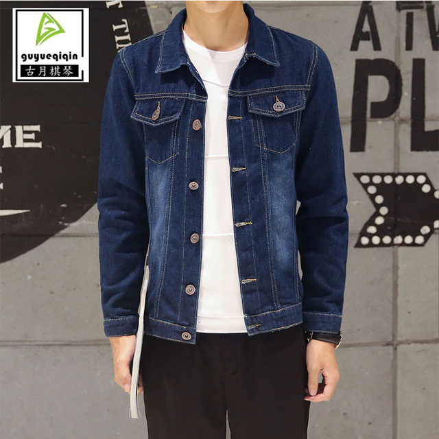 deb93c959a Jackets Men 2017 Denim Jacket Men s Casual Fashion Youth Long sleeve Jacket  Single Breasted Button Pocket Decoration Tops