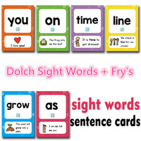 288Pcs /set Sight Words Learning Card Games Puzzles for Kids Children Toys Brain Games Juegos Educativos Early Educational Toy