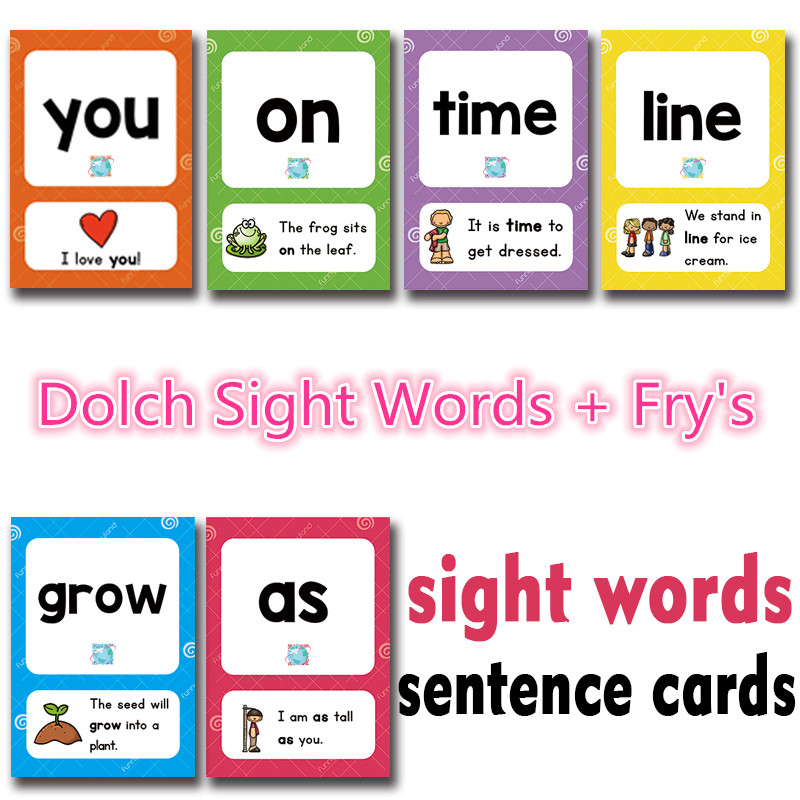 288Pcs /set Sight Words Learning Card Games Puzzles for Kids Children Toys Brain Games Juegos Educativos Early Educational Toy brain games for clever kids puzzles to exercise your mind
