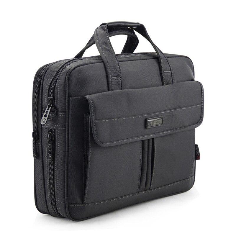 15 6 inch Laptop Bag Men Business Briefcase for Dell Lenovo Macbook Dark Grey Oxford Shoulder