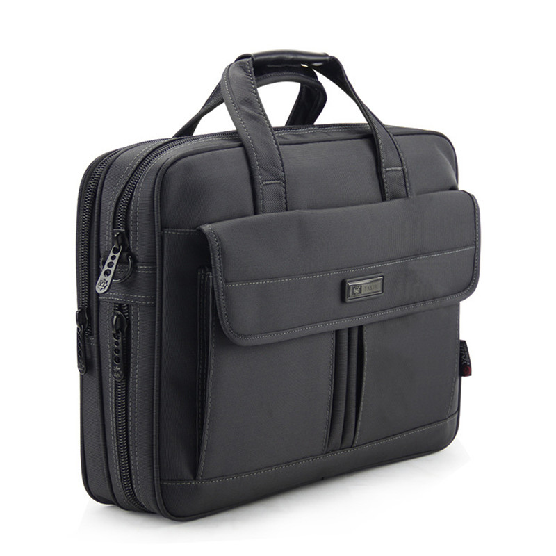 15.6 inch Laptop Bag Men Business Briefcase for Dell Lenovo Macbook Dark Grey Oxford Shoulder Messenger Bag Travel Handbag men black business travel briefcase 15 inch laptop computer notebook handbag single shoulder messenger bag portfolio for macbook