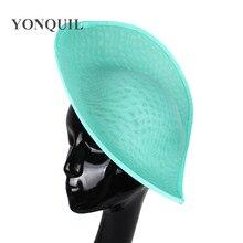 Nouvelles couleurs 30 CM grande Imitation Sinamay Fascinator Bases pour Sposa mariage chapellerie chapeaux bricolage cheveux accessoires 5 pièces/lot SYB05